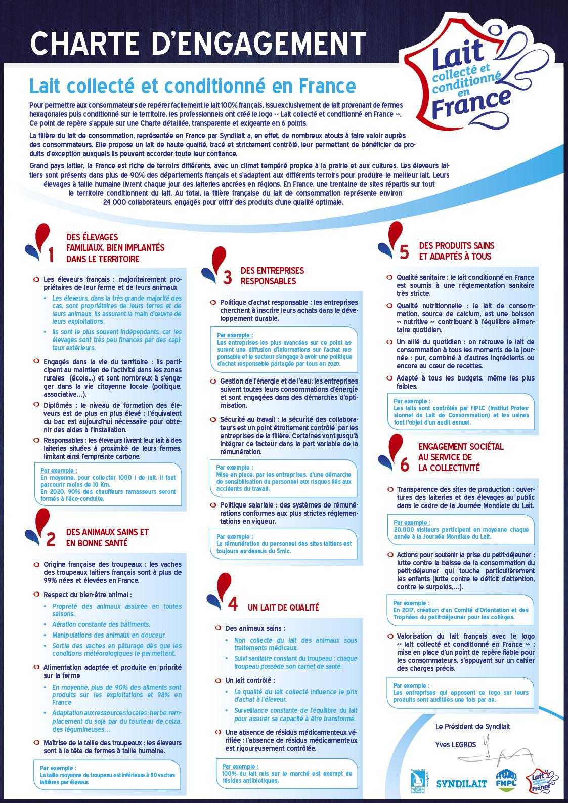 Charte d'engagement 2018