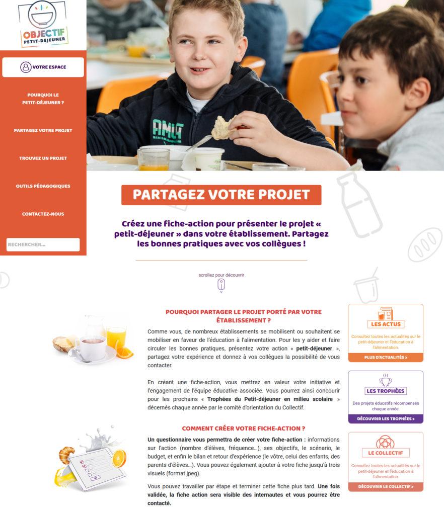 Site objectif-petit-dejeuner.fr